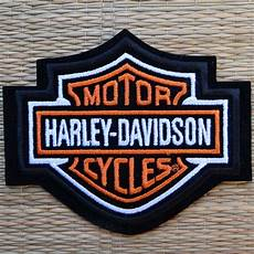harley davidson patches harley davidson classic orange logo sew on patch small