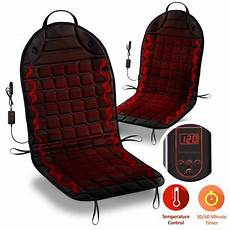 zone tech 2 12v heated car seat cushion adjustable temperature heating pad reliever