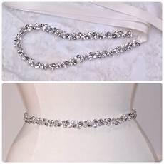 thin crystal rhinestone belt clear and gray rhinestones