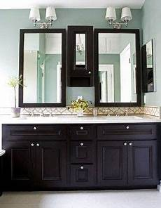 bathroom paint colors with espresso cabinets neutral blue paint espresso cabinets light counters