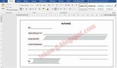 download contoh kwitansi penjualan toko format microsoft word sharing teknologi dan ilmu komputer