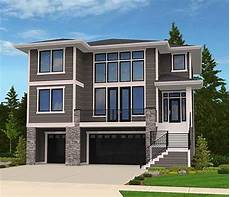 three striking modern home plan 85102ms modern house plan for front sloping lot