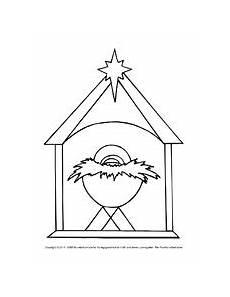 ausmalbild weihnachten krippe