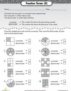 fraction word problems worksheets 2nd grade 11432 numerator and denominator basic fraction terms fractions free handwriting worksheets