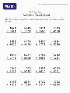 worksheets on 4 digit addition 9173 math help addition worksheets with images math addition worksheets math worksheets basic