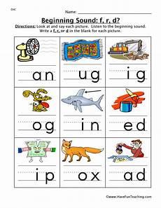 letter d beginning sound worksheets 24195 beginning sounds worksheet f r d teaching