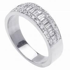 60ct channel baguette diamond wedding ring in platinum white gold diamond wedding