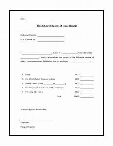 acknowledgment of wage receipt free download
