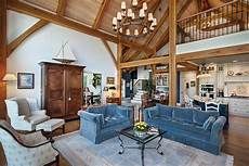 timber frame great room photos by riverbend