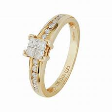 buy 9ct gold invisible 0 33ct tw princess cut dss ring