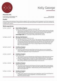 senior software engineer resume sle kickresume