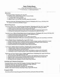 sle college student resume no work experience sle