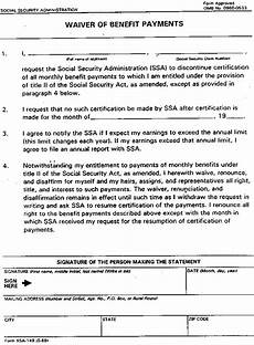 ssa poms gn 02409 040 form ssa 149 waiver of benefit