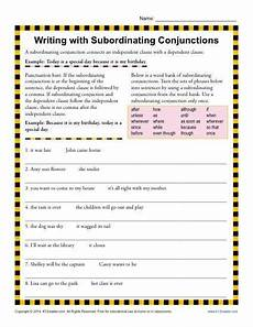 writing with subordinating conjunctions conjunctions subordinating conjunctions english
