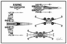diagram illustration for the t 65 x wing starfighter from
