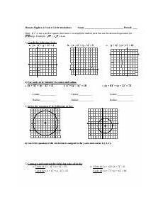 algebra 1 honors worksheets 8436 circles worksheet u4 doc honors algebra 2 unit 4 circle worksheet name period note if r2 is