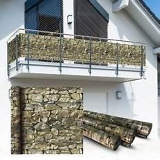 natürlicher sichtschutz balkon pvc balkon sichtschutz sichtschutzfolie stein 6x0 75m