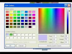 ms paint color change how to make your own colors in ms paint youtube