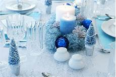 Silver And Blue Decorations by Colors For The Holidays
