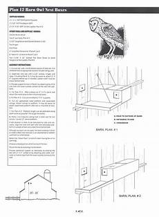 barred owl house plans screech owl house plans