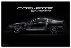 Corvette Stingray Art Poster ChevyMall