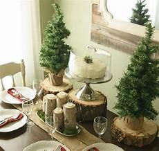 Tischdeko Weihnachten Natur - winter deko tisch naturmaterialien holzscheiben home