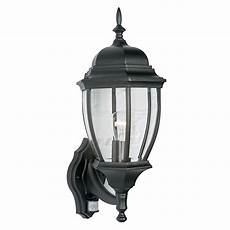 lanark black 60w mains powered external pir lantern departments diy at b q