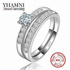 aliexpress com buy 100 pure silver rings for wedding rings engagement cz diamant