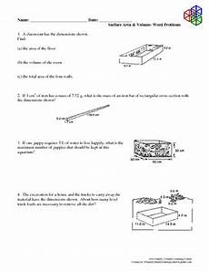 volume word problems worksheets with answers 11170 surface area volume word problems by family 2 family learning resources