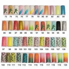 100pcs glitter french nail tips pre design false acrylic