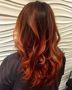 Haare Ombre - ombre kupferbraun haarfarbe hair haarfarbe kupfer