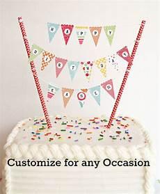 bonus kit mini cake banner cake bunting diy kit happy birthday anniversary baby shower