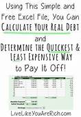 This Site Has Great Charts For Paying Off Debt Or Saving