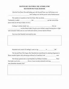 timeline worksheet