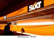 A Counter Of The Car Rental Service Sixt At An Airport