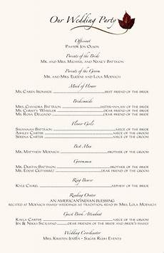 wedding ceremony programs wording exles programs wedding program wording program sles
