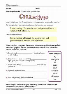 punctuation worksheets y3 20942 eyfs ks1 ks2 conjunctions and connectives teachit primary