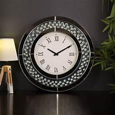 wall clock 50cm glass modern