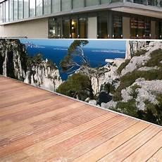 brise vue décoratif brise vue de jardin en polyester d 233 cor calanques 500 x 100 cm