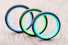 something new carbon6 glow in the dark wedding rings