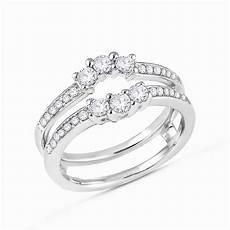 3 stone diamonds ring guard wrap solitaire enhancer