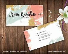 Etsy Photo Card Templates Business Cards Printable Name Card Template Photography Name