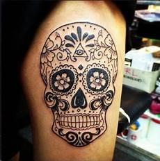 tatouage t 234 te de mort mexicaine qui vivra calavera