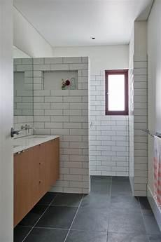 Subway Tile Bathroom Floor Ideas Charcoal Floor White Subway Tiles Grout