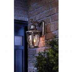 mccarthy 1 light bronze with gold highlights outdoor motion sensor wall lantern vip outlet