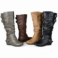 weite schuhe damen journee collection womens wide and wide calf slouch