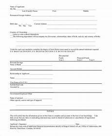 sle affidavit of support form 9 exles in pdf word