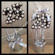 25th silver wedding anniversary sweet tree created using