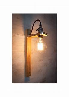 recycled wall sconce g80 edison l wood l rustic