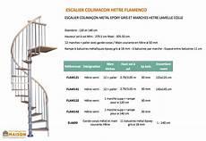 escalier en colimaçon dimensions escalier colima on en h tre et m tal flamenco levigne